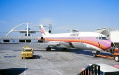 N533PS- Pacific Southwest Airlines- BOEING 727-214 seen here at LAX, March 1976. Sadly, two and a half years later on 25 September, this aircraft and a Cessna 172 (N7711G) had a fatal mid-air collision over San Diego, California, claiming the lives of all 135 on board and seven on the ground.