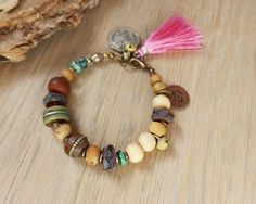 Om bracelet yoga bracelet ethnic jewelry bohemian by OmSaha
