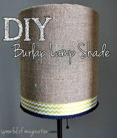DIY Burlap Lamp Shade!