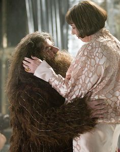fluffy gentle Hagrid and Madame Olympe Maxine