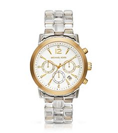 Audrina Clear Acetate Watch by Michael Kors