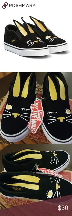 8b29c5127df9 Holiday Sale Vans Slip On Bunny Sneakers New with Box size 13.