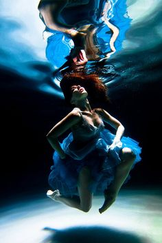 Blue Dance, via Flickr kim monet model freelance underwater pool ocean blue dance aqua pacific northwest nw artsy