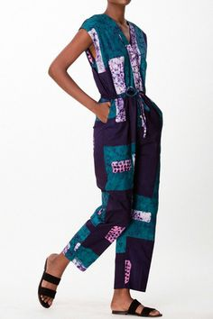 Accra Romper by Osei-Duro. Made by local artisans in Ghana using indigenous methods of textile craft.