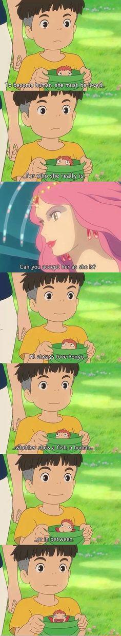 Sousuke\'s love confession. -- Studio Ghibli movies, Ponyo, Miyazaki, Japanese films, moments, quotes, scenes, cute, adorable