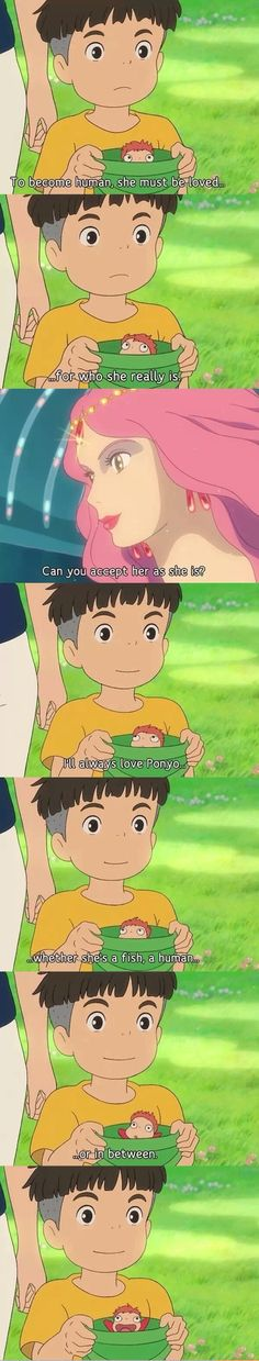Sousuke's love confession. -- Studio Ghibli movies, Ponyo, Miyazaki, Japanese films, moments, quotes, scenes, cute, adorable