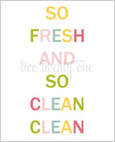 Colorful Bathroom Printable {Free Printable} {Word Art} - Two Twenty One