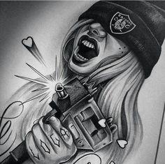 Tattoos News Pics Videos And Info Gangster Tattoos, Chicano Tattoos, Body Art Tattoos, Foot Tattoos, Tattoo Art, Tatoos, Arte Lowrider, Lowrider Tattoo, Graffiti