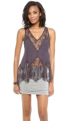 raw edged lace top