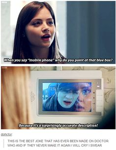 THIS IS THE BEST JOKE THAT HAS EVER BEEN MADE ON DOCTOR WHO AND IF THEY NEVER MAKE IT AGAIN I WILL CRY I SWEAR