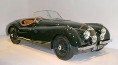 1950 Jaguar XK120   British racing green is timeless.