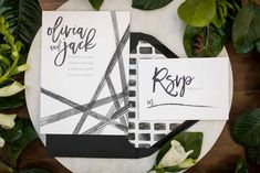 Simplistic, geometric wedding invitation/stationery suite - An Ultra Modern Style Shoot at Loft 310 | WeddingDay Magazine