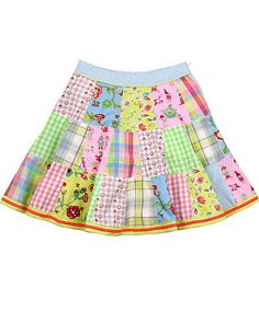 OILILY Girls Patchwork Skirt Spring