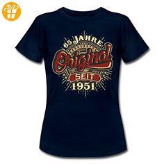 Geburtstag 65 Original 1951 RAHMENLOS® Frauen T-Shirt von Spreadshirt®, XXL, Navy - Shirts zum geburtstag (*Partner-Link)