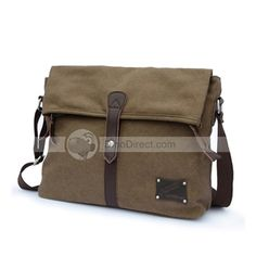41f6ac0ee2 MUZEE Maganetic Button Canvas Men s Shoulder Messenger Bag - DinoDirect.com