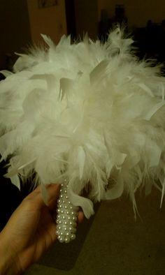 DIY Feather Bridesmaids Bouquets! | Weddingbee DIY Projects