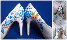 Svatební lodičky :: malované botičky