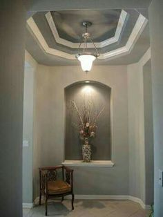 good idea for a arched wall niche home things. Black Bedroom Furniture Sets. Home Design Ideas