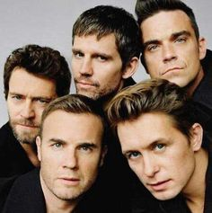 Take That: Howard Donald, Jason Orange, Robbie Williams, Gary Barlow and Mark Owen