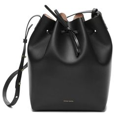 The Mansur Gavriel Black/Ballerina Bucket Bag is a black leather hand bag. Made of vegetable tanned leather it features a nude matte interior, detachable wallet and adjustable strap. Mansur Gavriel Bucket Bag, Black Bucket, Large Bucket, Black Ballerina, Minimalist Bag, Burberry Handbags, Burberry Bags, Black Purses, Black Cross Body Bag