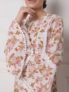 The Loom- An online Shop for Exclusive Handcrafted products comprising of Apparel, Sarees, Jewelry, Footwears & Home decor. Pakistani Fashion Party Wear, Pakistani Dresses Casual, Pakistani Dress Design, Sleeves Designs For Dresses, Dress Neck Designs, Stylish Dress Designs, Kurta Designs Women, Salwar Designs, Stylish Dresses For Girls