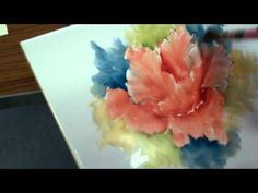 ▶ Porcelain Painting Chris Ryder -Impressionistic Poppy Stage 4 - YouTube