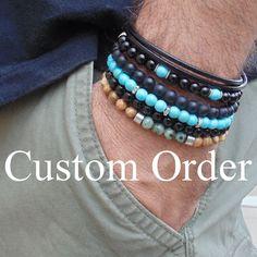 mens bracelet- custom order #Handmade #Surfer