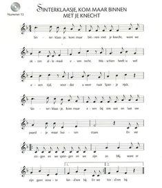 sinterklaas-liedjes Music Sheets, Piano Sheet Music, Music For Kids, Kids Songs, Free Printable Sheet Music, Kalimba, Guitar Chords, Anton, Vintage Posters