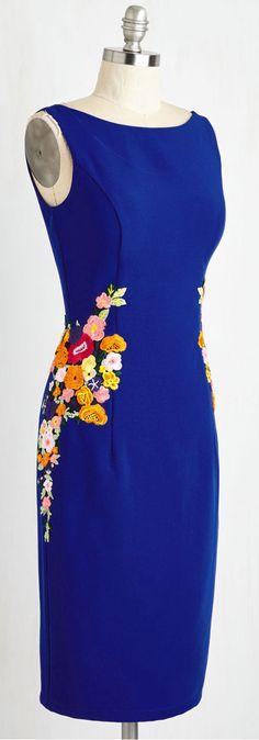 floral detail sheath