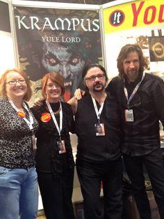 Jocelynn Drake, Kim Harrison, Richard Kadrey and Brom at New York Comic-con