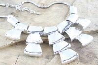 FAB Chunky silver statement necklace - ONLY £14.50 NOW!!!