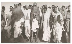 Acharya Vinoba Bhave during Bhoodan Movement started in Andhra Pradesh, India on 15th April 1950