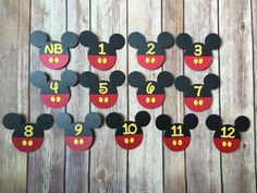 First Year Photo Monthly Mickey Mouse Banner With by JoyfulSeed
