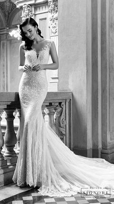 maison signore excellence long sleeves wedding gown 2 -- Maison Signore Exquisite Made in Italy Wedding Dresses