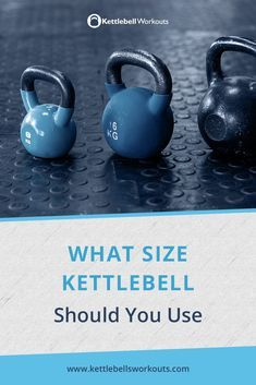 What Size Kettlebell Should You Use? Find out everything you need to know about choosing the right size kettlebells for men and women. #kettlebell #exercise #weight