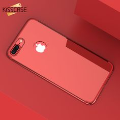 KISSCASE Mirror Phone Cases For iPhone 6 6s Plus 7 7 Plus Case Gold Plated Hard PC Cover Coque For iPhone 7 7Plus 6 6s Plus Capa #Affiliate
