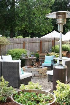 My Backyard Tour Pea Gravel Patios Flagstone Secret Garden The Inspired Room