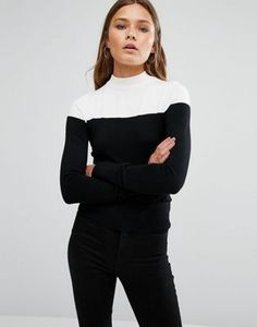 New Look Mono High Neck Sweater