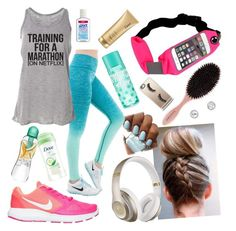 """""""Morning sprint"""" by dory-speaks-whale ❤ liked on Polyvore featuring NIKE, Beats by Dr. Dre, Casetify and Dove"""