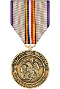 Cold War Commemorative Medal Instituted: 1991 Qualifying Dates: 1945 - 1991 Criteria: Struck to recognize any honorable military service between 2 Sept 1945 and 26 December Military Honors, Military Awards, Military Veterans, Military Jeep, Native American History, British History, Women's History, Ancient History, Medals Of America