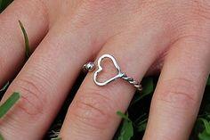 Silver Heart Ring chd-awareness
