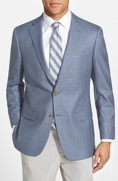 Men's Big & Tall Hart Schaffner Marx 'New York' Classic Fit Check Wool Sport Coat