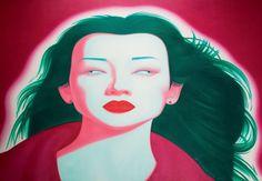 펑정지에 / Chinese Portrait Series- No.08/ 2006년. / $370,640 (HKD 2,887,500) 캔버스에 유채, 210 x 300cm  l 홍콩소더비 2008년 4월 / 펑정지에 [중국초상] 여서들에 대해 어떤 편견이나 시각이 있는 것이 아니다. 펑정지에는 그저 아름다운 것을 보고 감상하는 것을 즐기는 예술가일 뿐이다. 중국초상에서 나타내고 싶었던 것은 2000년대 초 중국 사회의 한 얼굴이다. 그래서 제목도 중국초상이다. 이 초상들이 나타내는 것은 특정한 개인이나 여성이 아니라 이 시대를 살아가는 사람들, 그들의 얼굴이다. 대부분 정면을 바라보고 있지만 눈은 초점이 맞이 않고 각각 다른 곳을 바라고고 있다. 아름다운 여성들의 얼굴에 어울리지 않는 이 텅 비고 기괴한 눈동자가 더해져 화면은 더 강렬한 느낌을 갖는다. 혼한스러운 시대 안에서 자기 안을 보기보다는 바깥세상을 바라보는데 급급한 중국인의 초상을 표현하고자 했다.