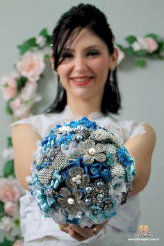 Buquê Tiffany blue com a linda modelo Alexsandra