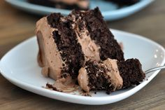 Decadent Chocolate Cake with Whipped Chocolate Frosting {Gluten-Free!} | Mel's Kitchen Cafe