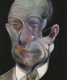 """Francis Bacon, """"Portrait of Michel Leiris"""", 1978, Huile sur toile, Centre Pompidou, Paris."""