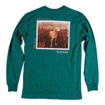Southern Marsh Chocolate Lab L/S T-Shirt- Dark Green