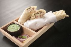 Chicken Malai Tikka Roll - Paper-thin roomali roti stuffed with creamy flavoured chicken. Chicken Flavors, Chicken Recipes, Malai Chicken Tikka, Chaat Masala, Indian Food Recipes, Ethnic Recipes, Evening Snacks, Baking Tins, Marinated Chicken