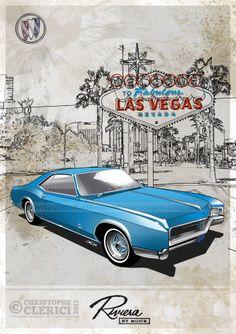 Les illustrations de christophe: Buick Riviera - 1966