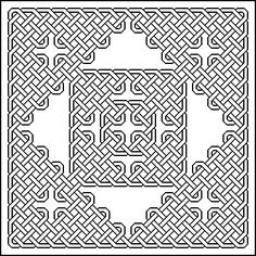 Celtic Coloring Pages for Adults | Outline Celtic knots examples to colour in